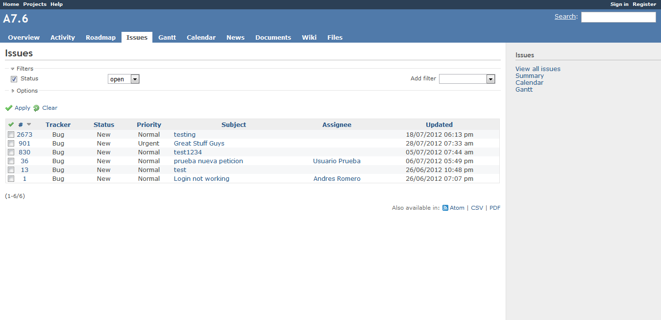 Redmine_issue_tracker
