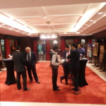 Guests admire the artworks